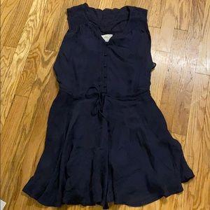 Madison Marcus 100% silk navy dress